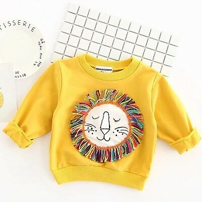 Rainbow Roar Yellow Lion Jungle Sweater Baby Boy 12-18 Months