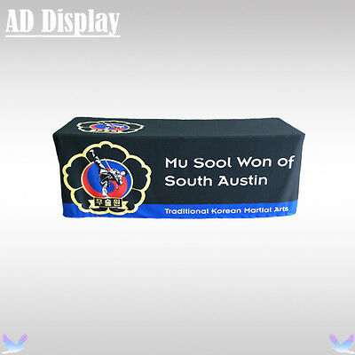 Trade Show 6ft Loose Fit Advertising Table Cloth/Table Throw Four Sides Printing