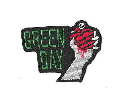 GREEN DAY IRON ON / SEW ON PATCH Embroidered Badge ROCK BAND MUSIC PT243