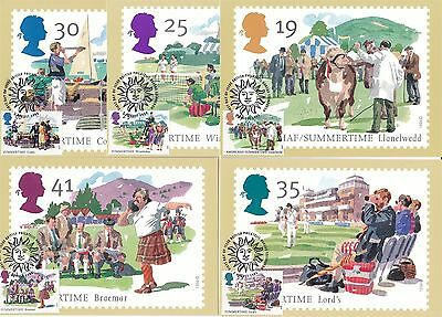 Summertime Events 1994 Great Britain 5 PHQ Cards (Stamps on Front)