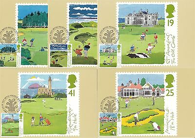 Edinburgh Golf Club 1994 Great Britain 5 PHQ Cards (Stamps on Front)