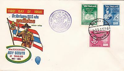 Boy Scouts of Thailand 1961 FDC Scouting