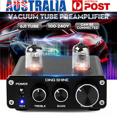 Audio Mini 6J1 Valve & Vacuum Tube Pre Amplifier Stereo HiFi Buffer Preamp Set