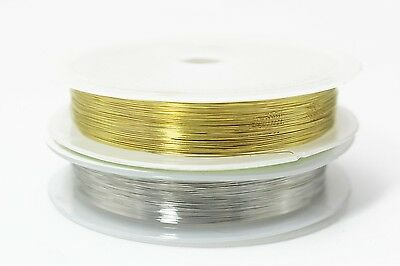 2 pcs 0.1MM Super Thin Copper Thread Wire Golden Silver Assorted Fly Tying