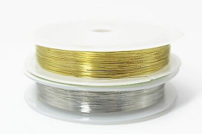 2 pcs 0.1mm*20m Super Thin Copper Wire Midge Larvae Nymph Fly Tying Materials