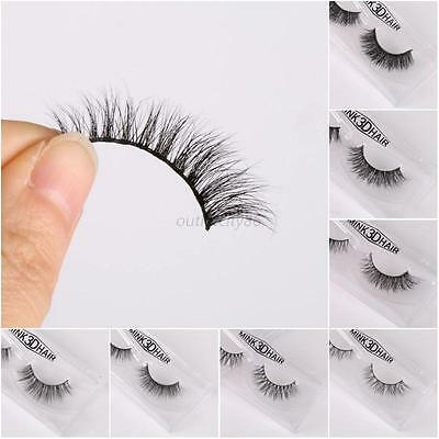 Natural Curling Faux Cils Thick False Fake Eyelashes Makeup Eye Lashes Extension