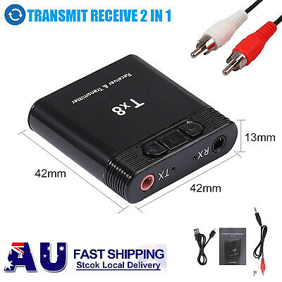 2in1 Wireless Bluetooth 3.0+EDR Transmitter Receiver for TV Stereo Audio Adapter
