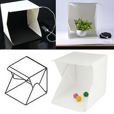 "9"" Cube Mini Box Photography Lighting Tent Kit Backdrop Light Room Photo Studio"
