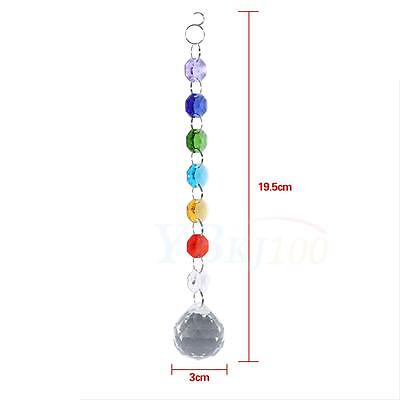 Suncatcher Crystal Prisms Ball Xmas Light Decor Hanging Window Handmade Rainbow