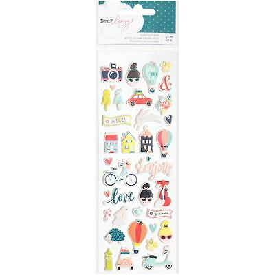 Dear Lizzy - Lovely Day Mini Puffy Stickers  37 Pieces