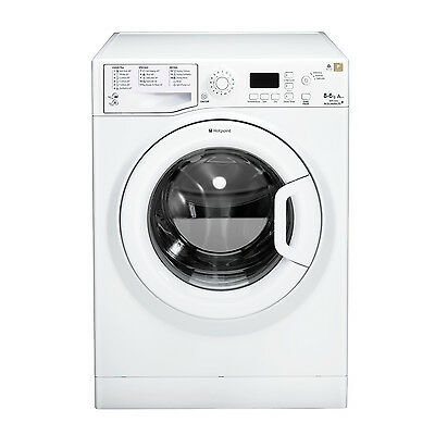 Hotpoint WDPG8640P Washer Dryer, 8 kg Wash Load, 1400 RPM Spin Speed - White