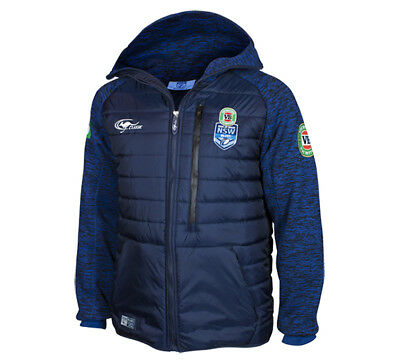 2017 New South Wales Blues Mens State Of Origin Bubble Heavyweight Jacket S-3XL