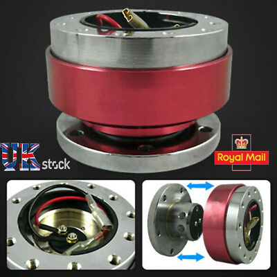 Quick Release STEERING WHEEL HUB ADAPTER BOSS KIT FIT MOMO OMP SPARCO NRG RED UK