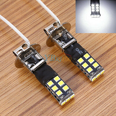 For Fog Driving DRL LED Light Bulb Lamp Bright White 2X H3 Canbus High Strong