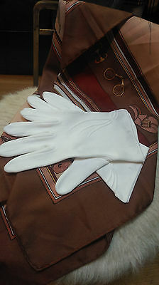Vintage white 100% cotton gloves made in Germany