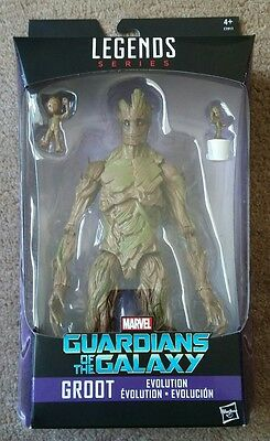 Marvel Legends Series Guardians Of The Galaxy Groot Evolution Figure Hasbro