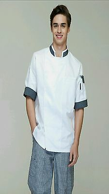High Quality Classic Chef Jacket, Short Sleeves with Pen Pocket.