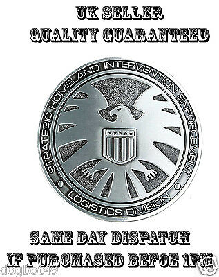 Fashionable Quality Mens Metal S.h.e.i.l.d Belt Buckles Cos Play Dc