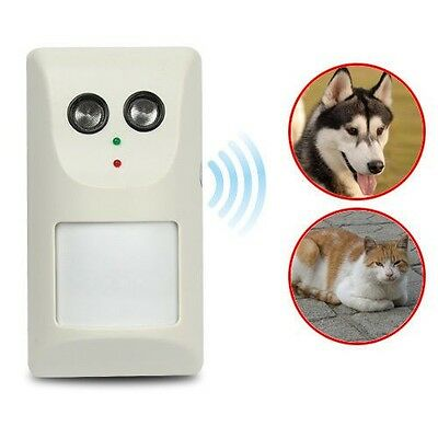 Ultrasonic Wall-Mounted Auto Infrared Sensor Drive Cats Dogs Pets Dog Repeller