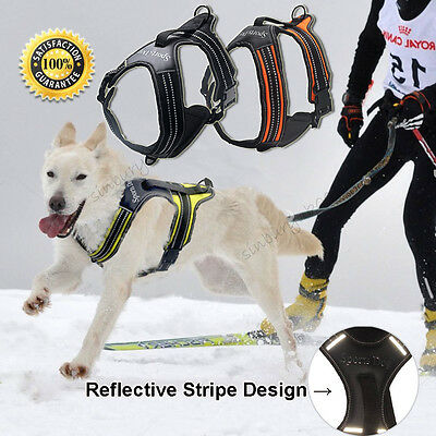 Heavy Duty Non Pull Dog Harness Chest Vest Soft Padded Handle Safety Reflective