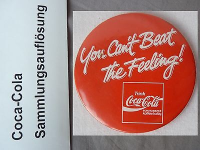 Coca Cola vintage button 1989 You can´t beat the feeling PIN
