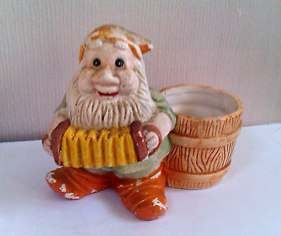 Disney Vintage Bashful Dwarf Ceramic Planter Snow White and the Seven Dwarfs