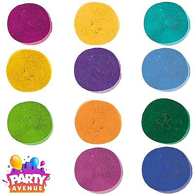 Crepe Streamer Paper Rolls 81ft 24 meters Party Decoration Bunting Many Colours