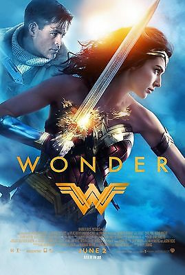 "WONDER WOMAN 2017 Original Final Ver DS 2 Sided 27x40"" US Movie Poster Gal Gadot"