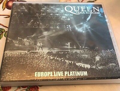 "Queen + Paul Rodgers ""Europe Live Platinum"" 2 CD Promo Brian May Roger Taylor"
