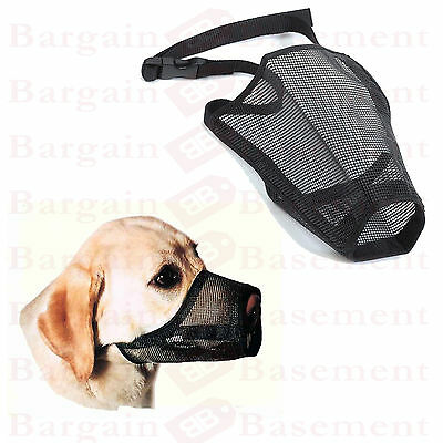 Soft Dog Muzzle - 4 Sizes Soft Comfortable Breathable Mesh Muzzle S,m,l,xl Pet