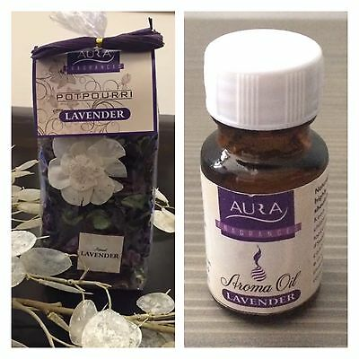 Pot Pourri Gift Bag (100g) Lavender With Fragrance Oil (15ml) **FREE P&P**