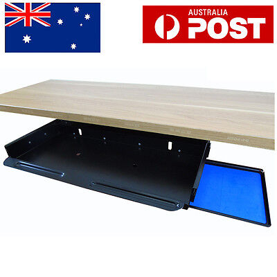 Black Under Desk Pull Out Sliding Keyboard Drawer Tray Shelf With Mouse Pad AU