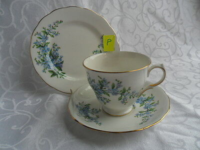 Queens Forget Me Not - Tea Trio (Cup, Saucer & Plate)