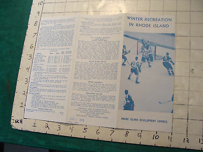 Vintage High Grade brochure: WINTER RECREATION IN RHODE ISLAND 1973