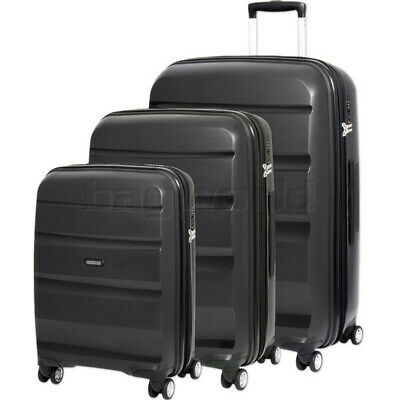 American Tourister Bon Air Deluxe Hardside Suitcase Set of 3 Black 87851, 87852,