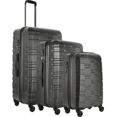 Antler Prism Embossed Hardside Suitcase Set of 3 Charcoal 40909, 40923, 40926 wi