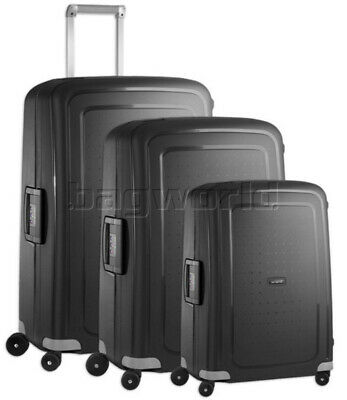 Samsonite S'Cure Hardside Suitcase Set of 3 Black 56342, 56338, 64512 with FREE