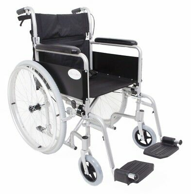 AMW002S Lightweight Aluminium Self Propelled Folding Wheelchair Removable Wheels
