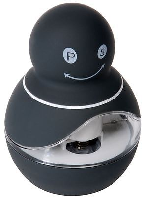 Zuhause - Zippy Soft Touch Duo 2 in 1 Salt and Pepper Mill 8.5cm Charcoal