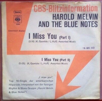 HAROLD MELVIN & THE BLUE NOTES - I Miss You (Part 1+2) - RARE R&B Promo !!!