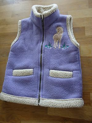 British country collection lilac gilet child M with lovely horse design
