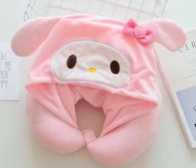Cute My Melody Soft Plush Neck Rest Car Airplane Office Travel U-type Hat Pillow