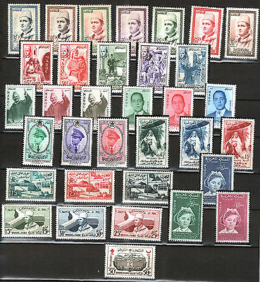 Morocco -1956/59 Independant Kingdom - Year Sets - 33v, Yvert# 362/395 - MNH **