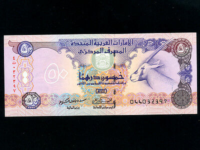 United Arab Emirates (UAE) :P-14b,50 Dirhams,1996 * Oryx * UNC *