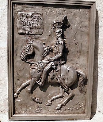 Tin Relief, uhlan soldier on Horse 1817