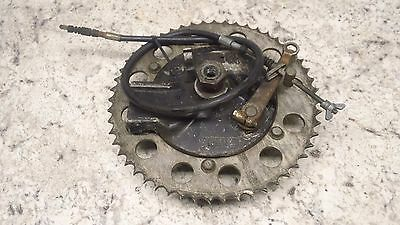 1980 Suzuki Pe250 Pe 250 Oem Rear Brake Backing Plate With Shoes And Cable