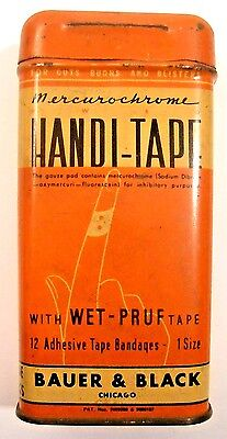 Vintage Handi-Tape Tin * Before Band-Aid Medical Brand