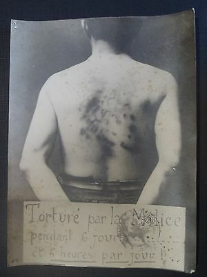 Ancienne Photo Seconde Guerre Mondiale Torture Par La Milice