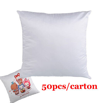 Plain White 3D Sublimation Blank Pillow Case Fashion Cushion Cover - 50pcs/pack