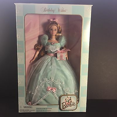 NIB NRFB NEW Happy Birthday Wishes Barbie 2nd in series 2000 Collectors Edition